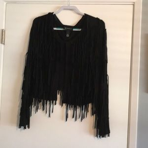 Black fring top